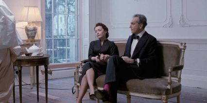 Daniel Day-Lewis and Lesley Manville in Phantom Thread, a horror film that'a actually a romance