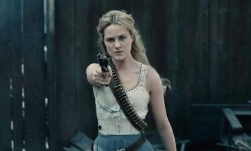 Evan Rachel Wood in Westworld, one of TV's spookier non-horror shows