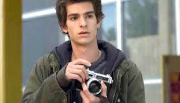 Peter Parker with his camera...ah Andrew Garfield, gone too soon