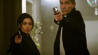 Sarah Shahi and Jim Caviezel in Person of Interest