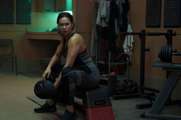 """The """"Churn"""" gives us Bobbie Draper (Frankie Adams) working out...a good day"""
