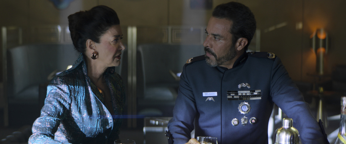 """Chrisjen Avasarala (Shohreh Aghdashloo) and Admiral Delgado (Michael Irby) know that Marco's plot is coming to a head in """"Mother"""""""