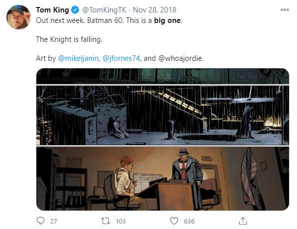 Tom King Big One