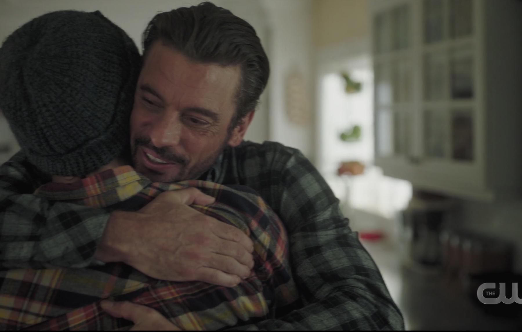 Skeet hugs his boy on Riverdale
