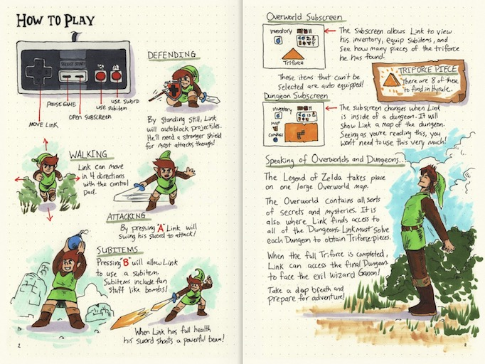 hand-drawn game guides how to play