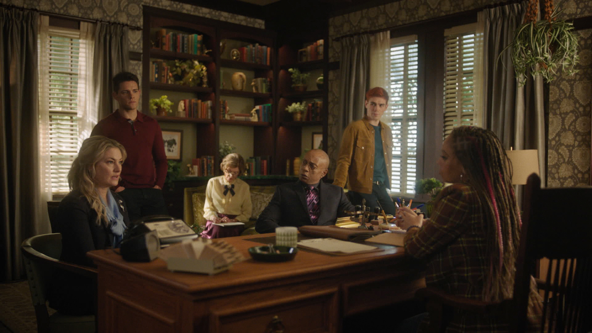 Weatherbee lets Archie know that Riverdale High may not reopen