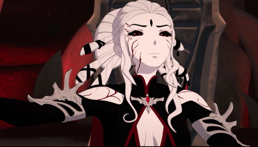 Salem (Jen Taylor) is very satisfied with the results of RWBY volume 7