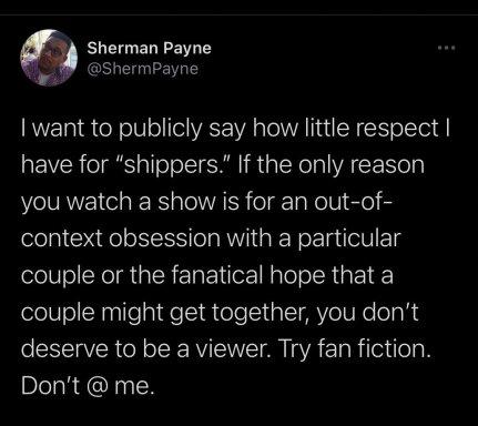 Sherman Payne's railing against women-centered spaces in fandom