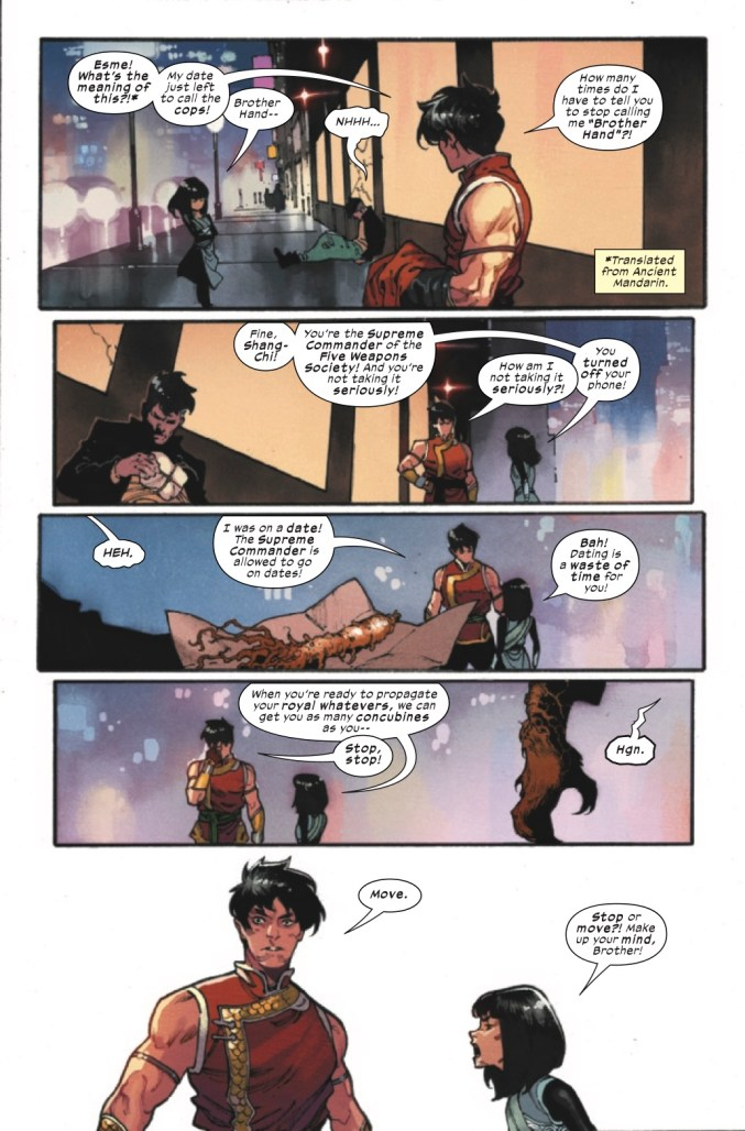 Page From Shang-Chi #1