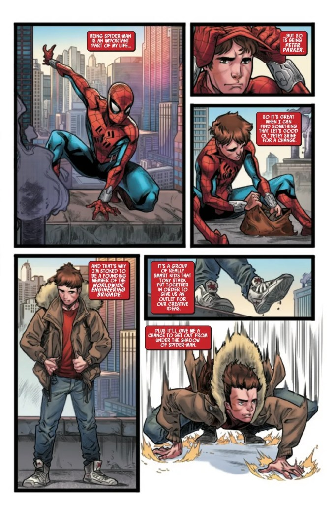 Page From W.E.B. of Spider-Man #1