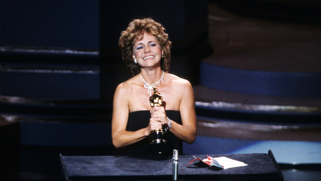 Sally Fields wins one of the most memorable and notorious Oscars; a good awards show moment