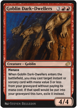 Goblin Dark-Dwellers from Magic Arena exclusive set Jumpstart: Historic Horizons
