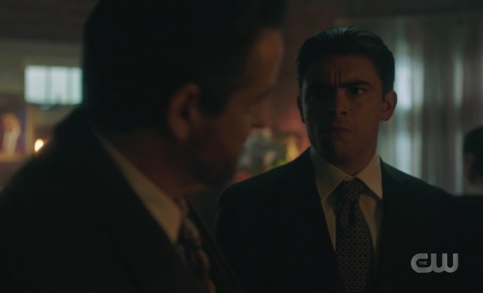 Hiram's eyes say Vito's days in Riverdale are numbered