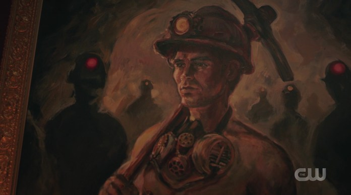 Cheryl's painting of Archie as a coal miner