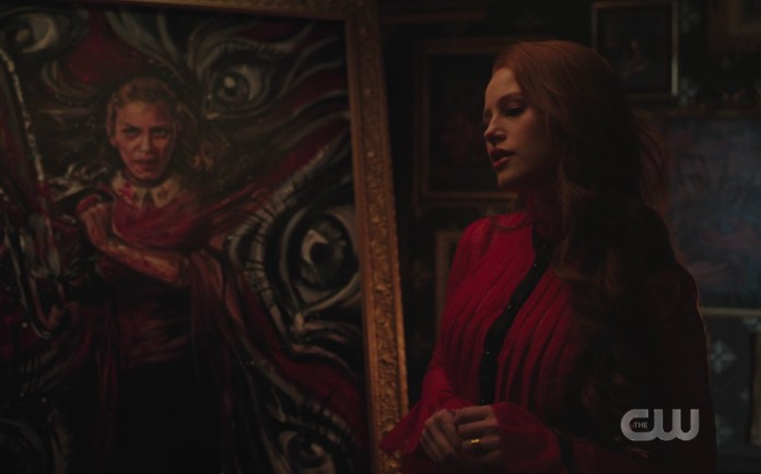 Cheryl Blossom's painting of Betty Cooper on Riverdale