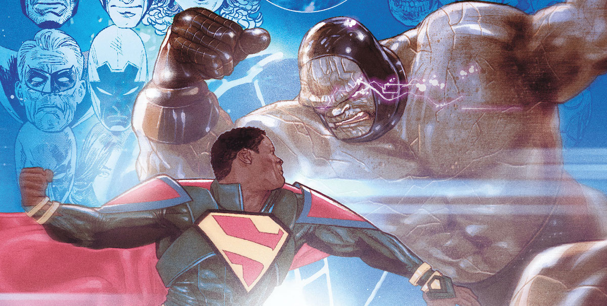 President Superman goes toe-to-toe with a shirtless Darkseid. Yes, you needed to know he's shirtless.