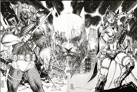 Deathstroke Huntress And Batman
