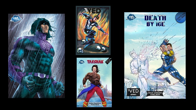 TBS Planet Comics Characters  Ved, Takshak, Karma