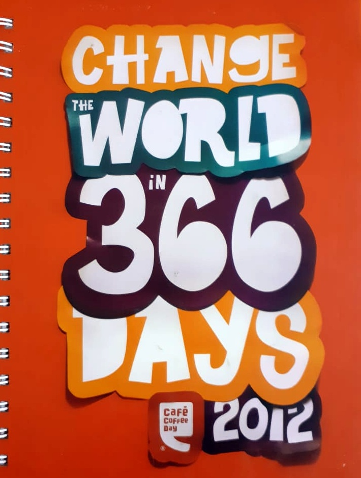 Cafe Coffee Day 2012 Diary - Change The World In 365 Days