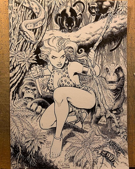 Sheena - Queen Of The Jungle - Original Art Sketch By ART ADAMS