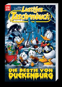 Dagobert, Donald und Tick, Trick und Track im Vordergrund - Duckenburgh und Monsterkatze im Hintergrund