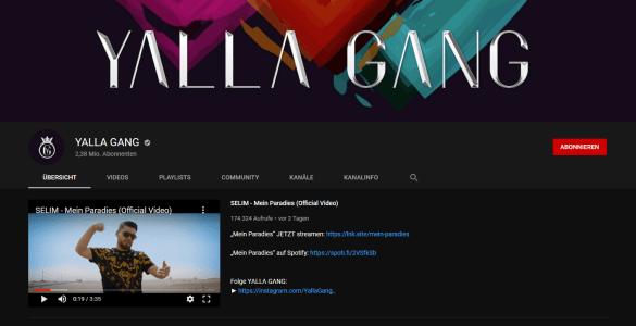 ApoRed hat seinen Kanal verkauft, nun heißt er Yalla Gang 1