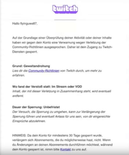 Flying Uwe wurde auf Twitch gesperrt (Permabann) 2
