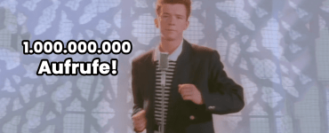 never gonna give you up rick astley rickroll eine milliarde views aufrufe