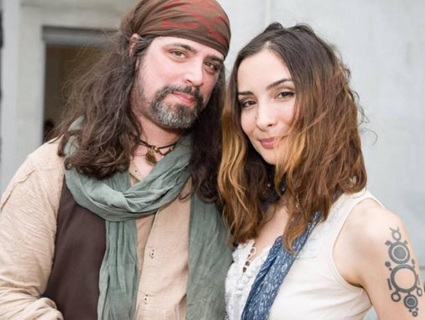 Nigel Sade with fiancée Sarah Wilkinson