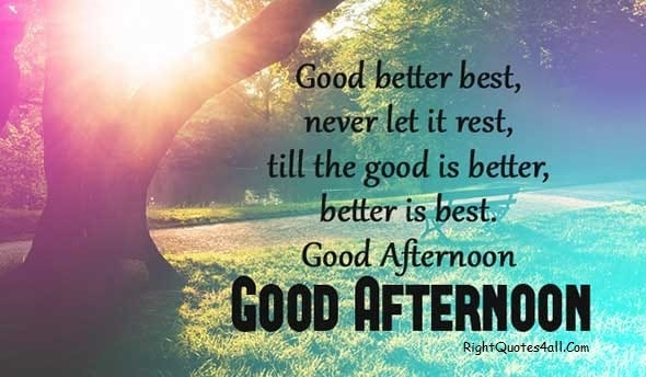 good afternoon wishes messages and good afternoon quotes
