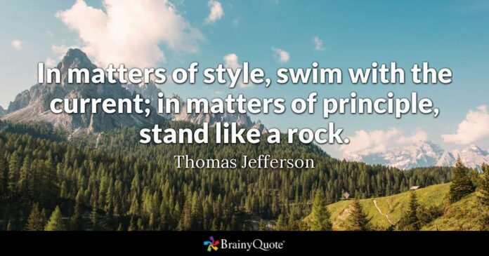 thomas jefferson in matters of style swim with the