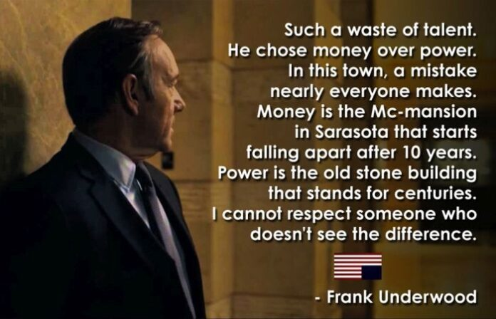 cool quotes from house of cards frank underwood others