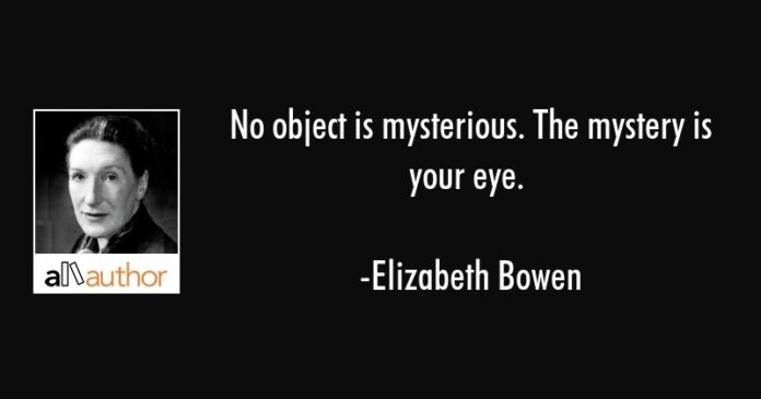 no object is mysterious the mystery is your quote