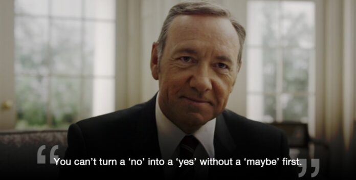 startup advice from house of cards frank underwood