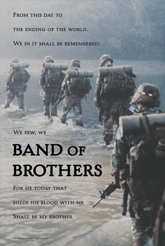 us army infantry band of brothers inspirational poster