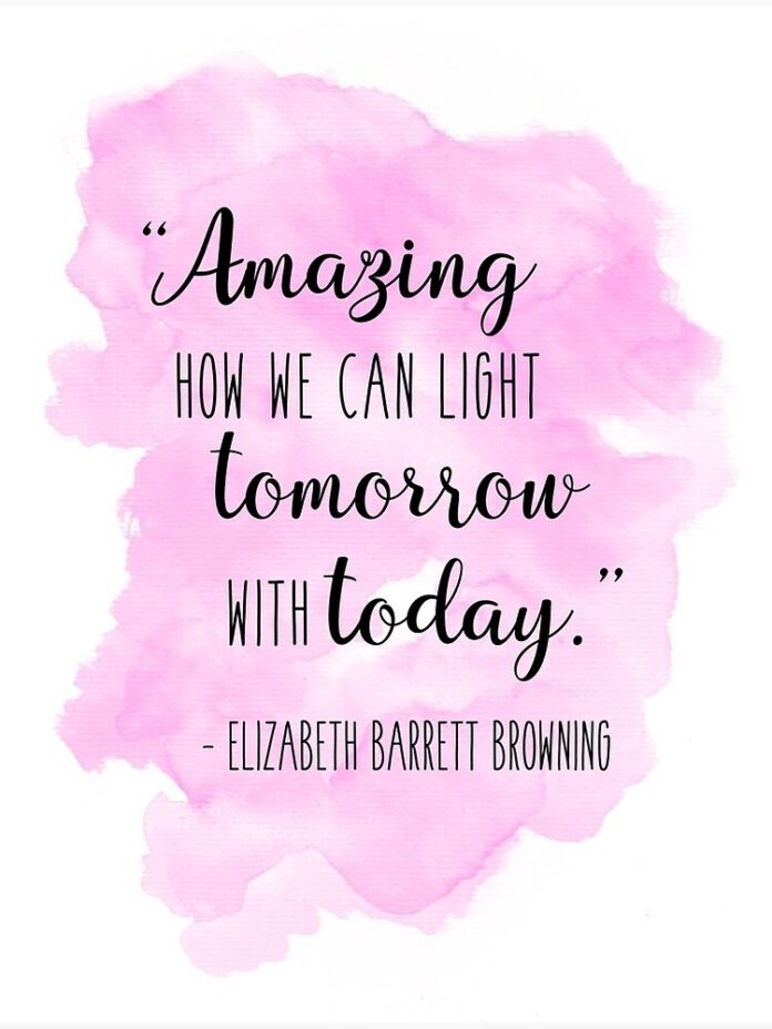watercolor quotes elizabeth barrett browning poster