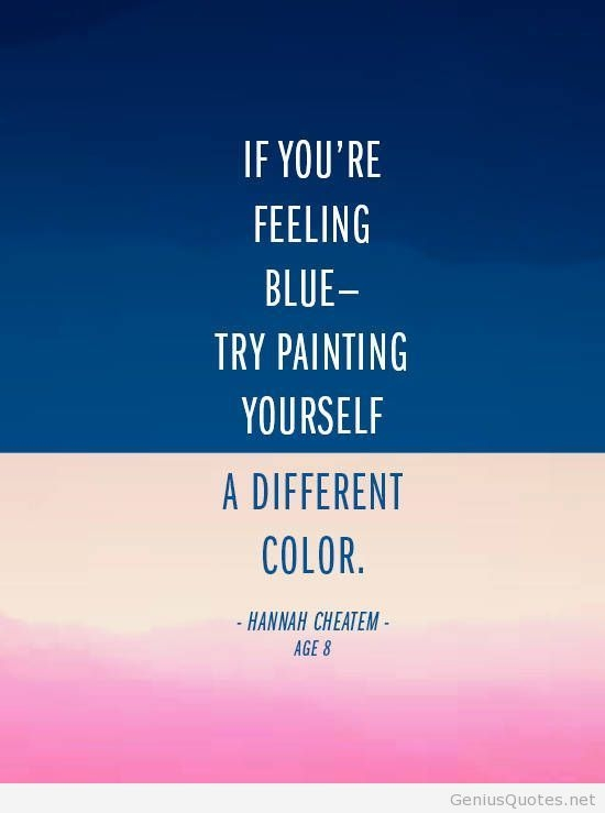 feeling blue quotes