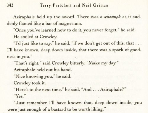 good omens love the crowleyaziraphale bromance this is