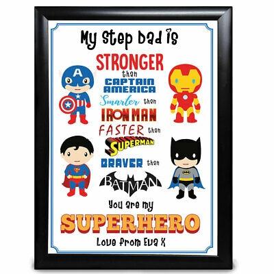 individuelle super helden step dad geschenk geburtstag vatertag weihnachten ebay