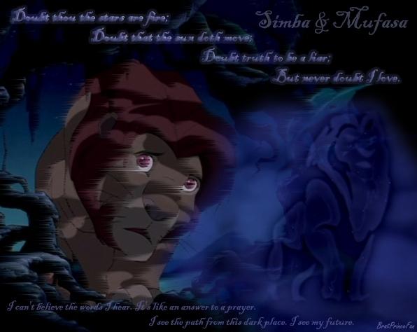 mufasa simba never doubt i liebe der knig der lwen