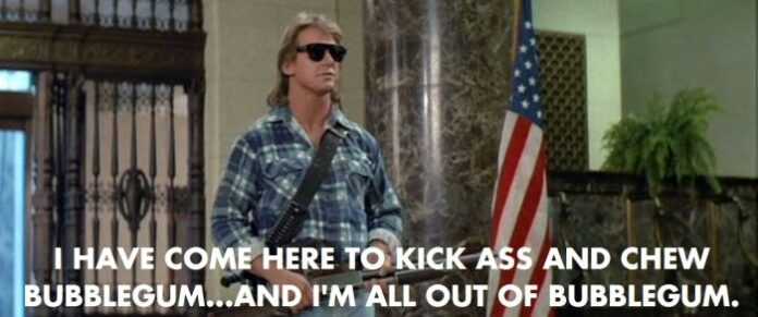 rowdy roddy pipers best line in john carpenters they live
