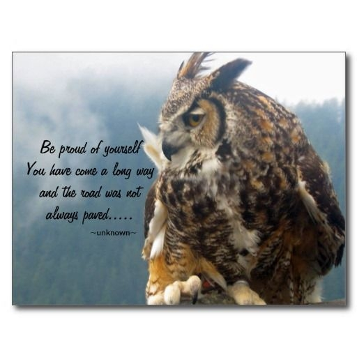 great horned owl with quote postcard great horned owl owl