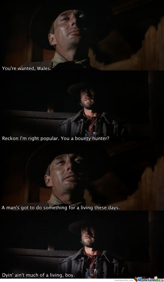 josey wales clint eastwood quote carebear meme center