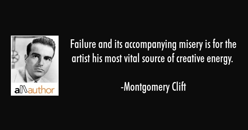 failure and its accompanying misery is for quote