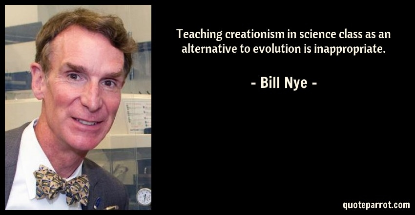 teaching creationism in science class as an alternative