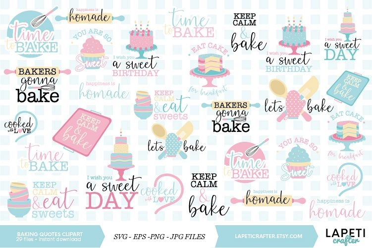 baking quotes clipart cupcakes and cooking vectorg graphics