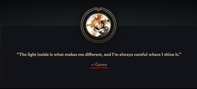 isnt this quote meant to be said lux not garen lux