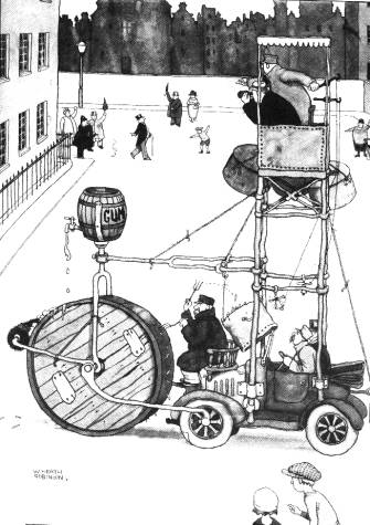 One of W Heath Robinson's contraptions
