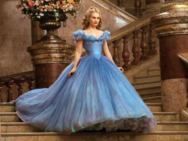 Lily James playing Cinderella from Disney 2015