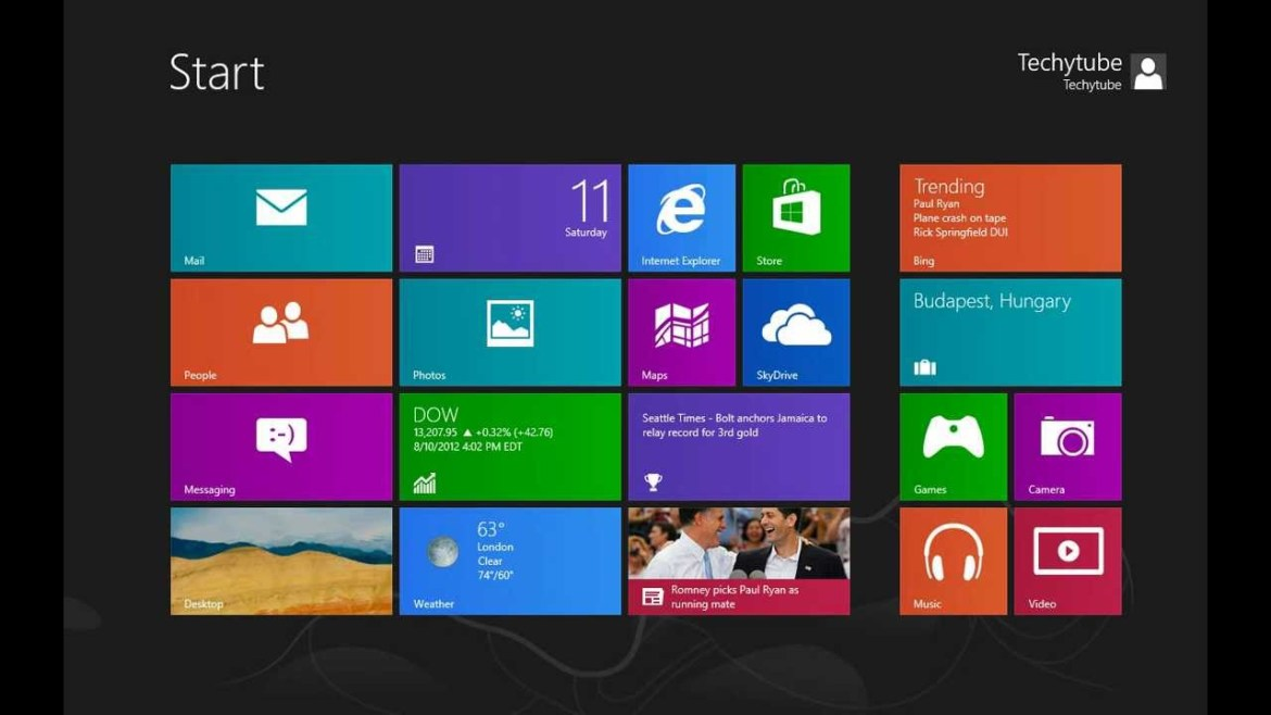 Schermata Windows 8